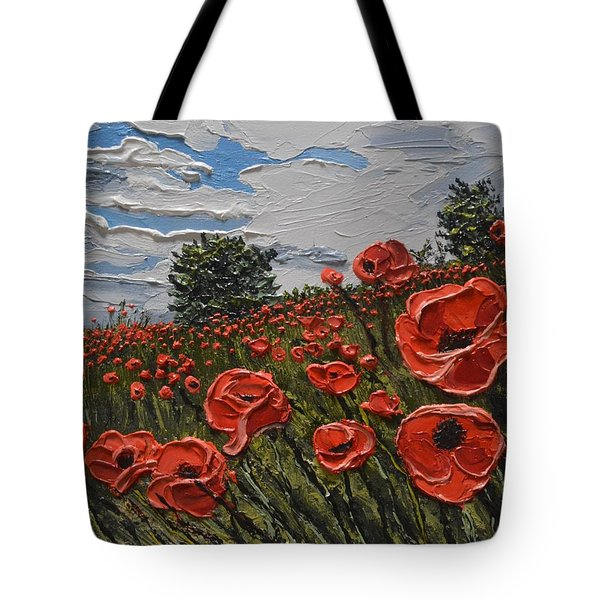 Poppies Wrotham Kent Uk Tote Bag