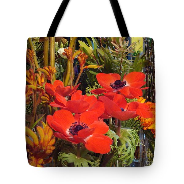 Poppiest Tote Bag by Cathy Dee Janes