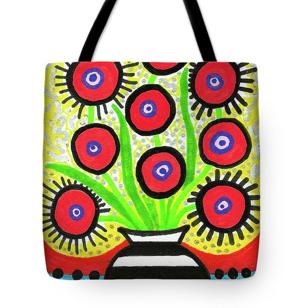 Poppin' Red Poppies Tote Bag