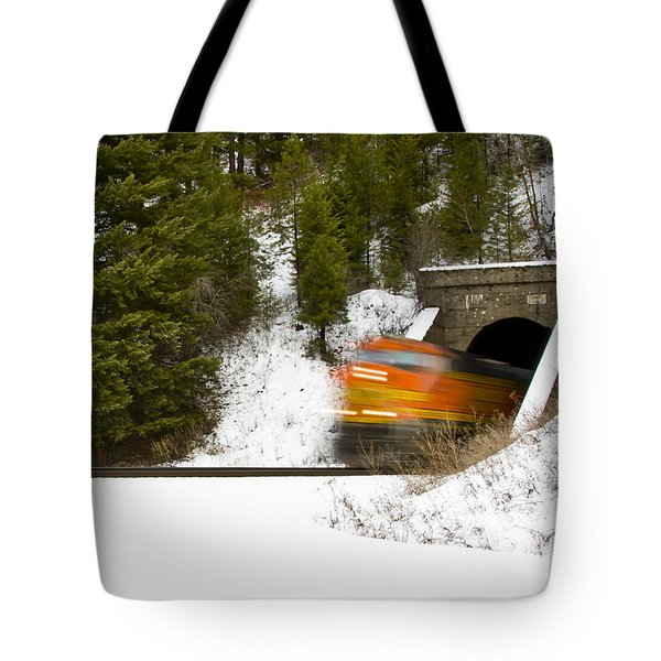 Popping Out Of Tunnel 1012 Tote Bag