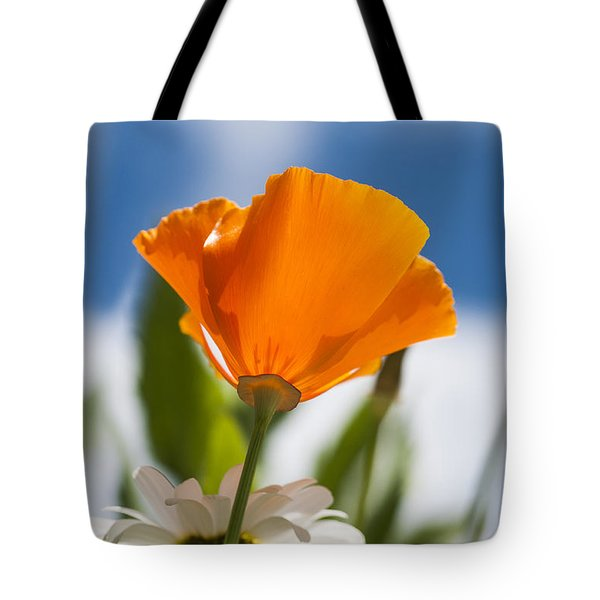 Poppy And Daisies Tote Bag