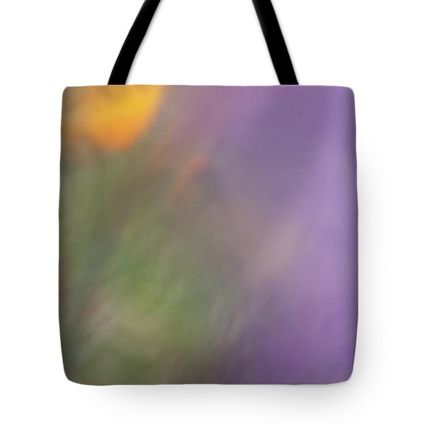 Tote Bag featuring the photograph Poppy And Purple Lupine by Roger Mullenhour