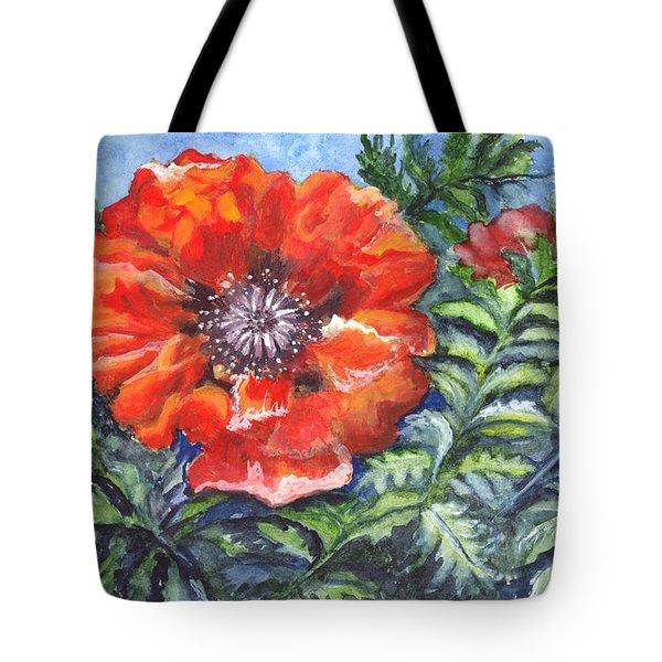 Poppy Brilliance Tote Bag by Carol Wisniewski