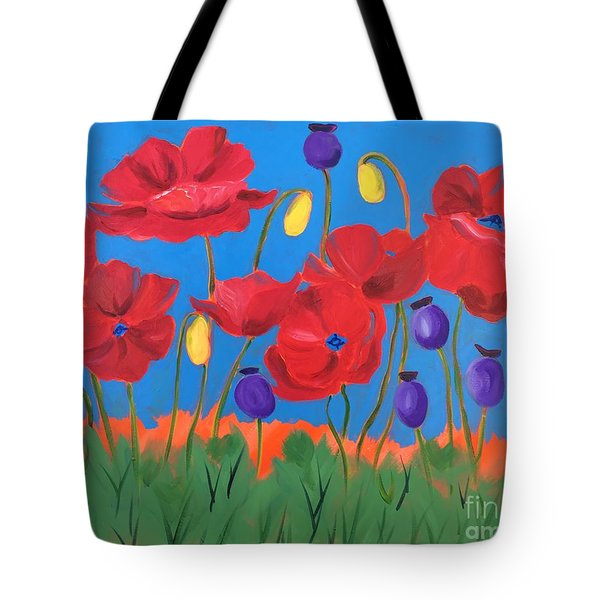 Poppy Chorus Line Tote Bag