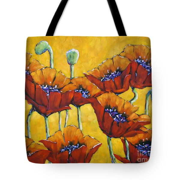 Poppy Craze By Prankearts Tote Bag by Richard T Pranke