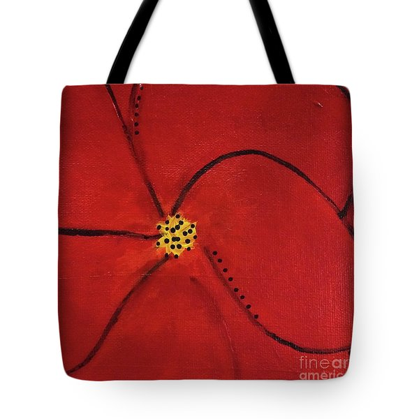 Poppy Dots Tote Bag