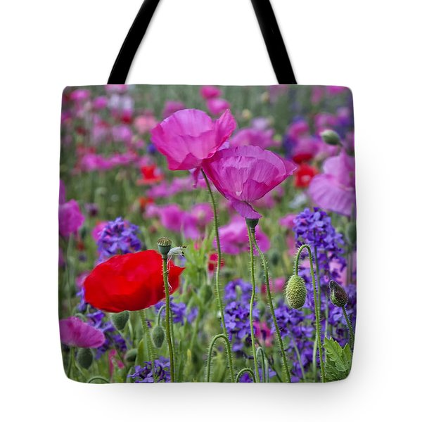 Tote Bag featuring the photograph Poppy Field by Ken Barrett