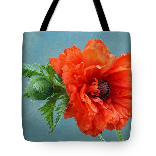 Poppy Flower Tote Bag