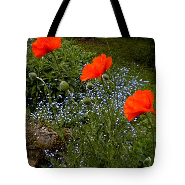 Poppy Foursome Tote Bag by Renate Nadi Wesley
