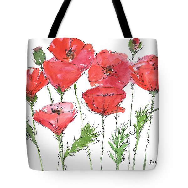 Poppy Garden Tote Bag