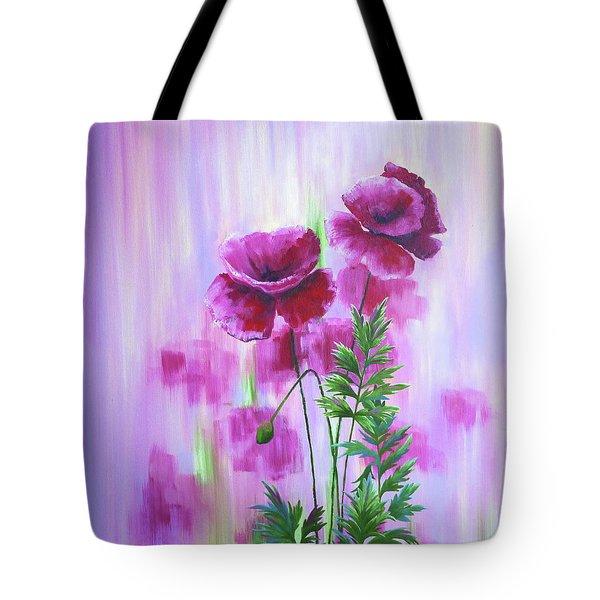 Poppy Haze Tote Bag