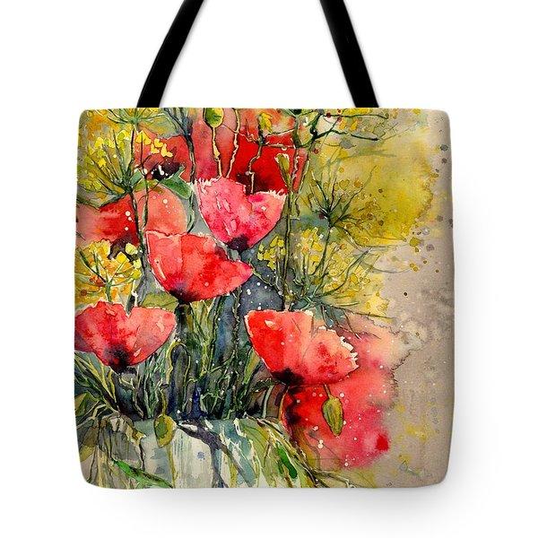 Poppy Impression Tote Bag