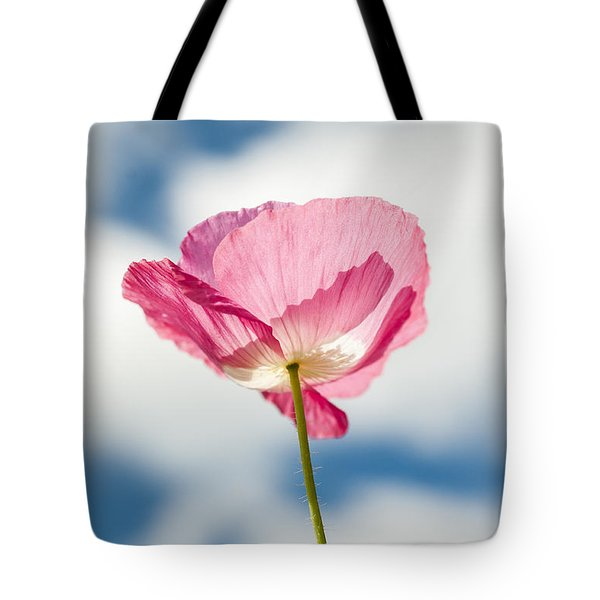 Poppy In The Clouds Tote Bag