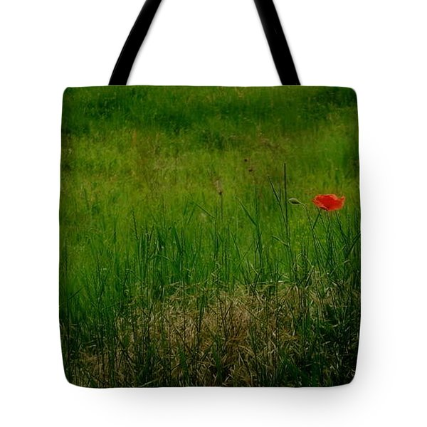 Tote Bag featuring the photograph Poppy In The Field by Marija Djedovic