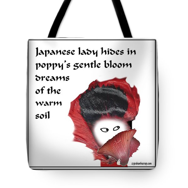 Poppy Lady Tote Bag