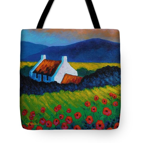 Poppy Meadow Tote Bag by John  Nolan
