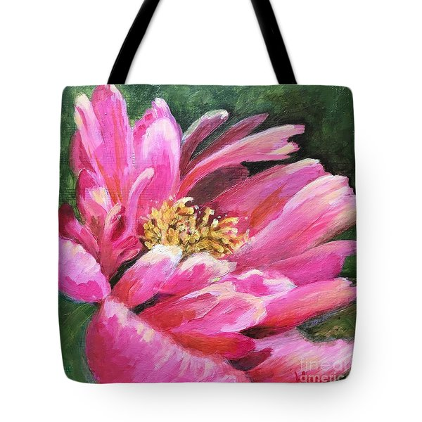 Poppy Melody Tote Bag