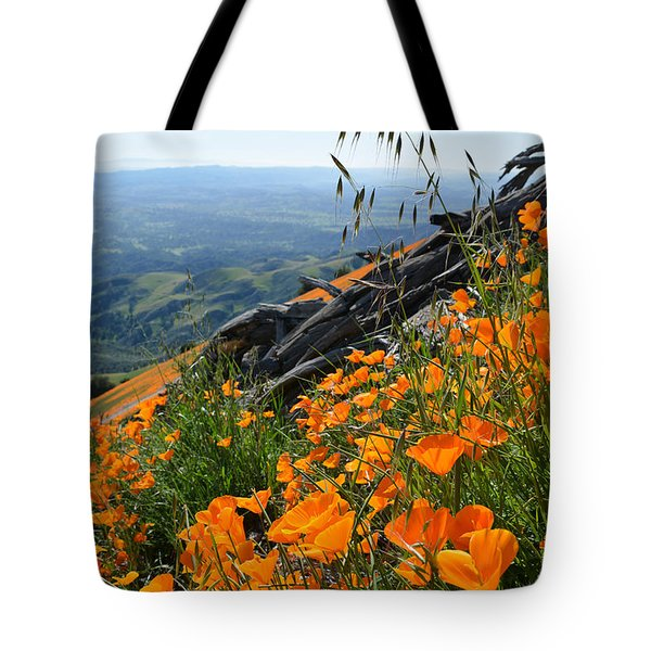 Poppy Mountain  Tote Bag by Kyle Hanson