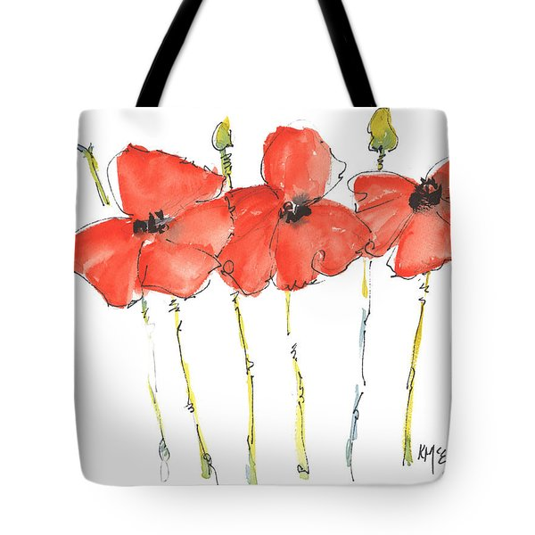 Red Poppy Play Tote Bag