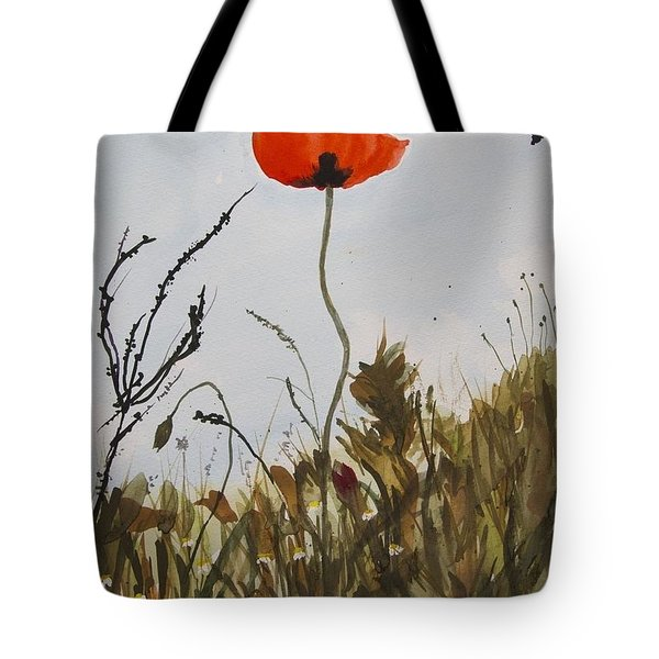 Poppy On The Field Tote Bag