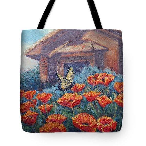 Poppy Paradise Tote Bag