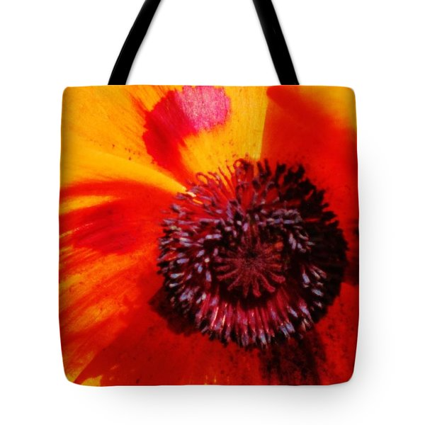 Poppy Pop Tote Bag by Cathy Long