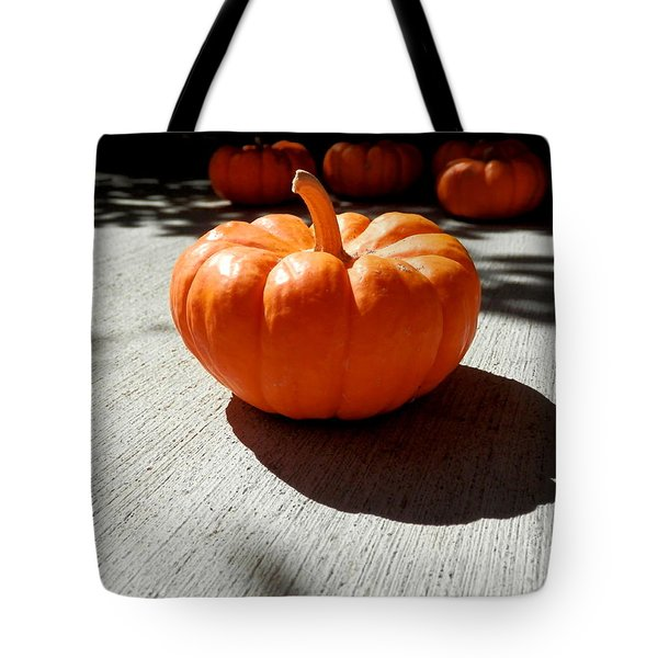 Poppy Pumpkin Tote Bag