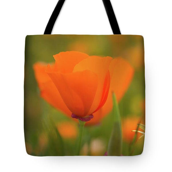 Tote Bag featuring the photograph Poppy by Roger Mullenhour