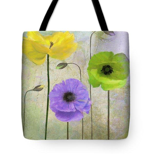 Poppy Shimmer II Tote Bag