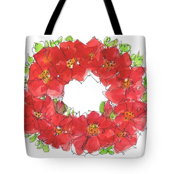 Poppy Wreath Tote Bag