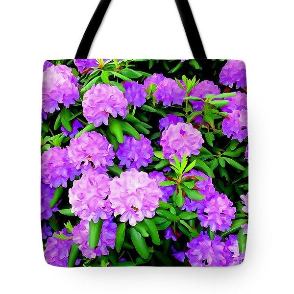 Pops Of Purple Tote Bag