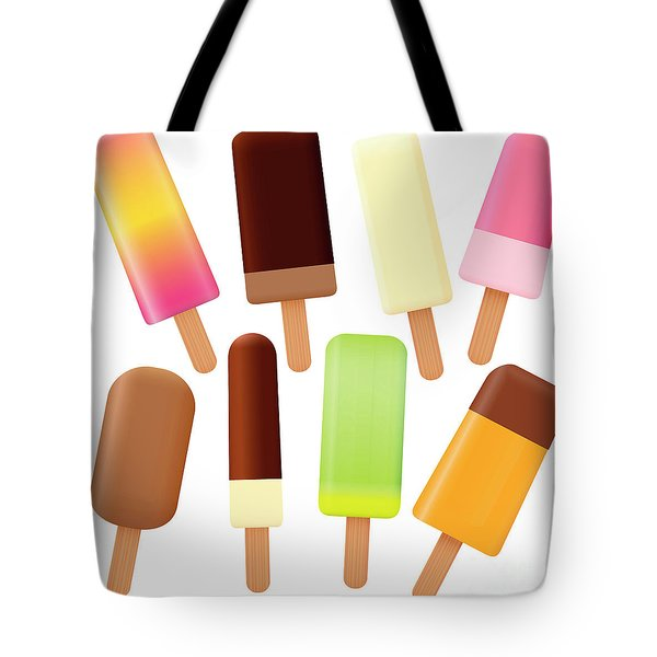 Popsicles Ice Lolly Set Loosely Arranged Tote Bag