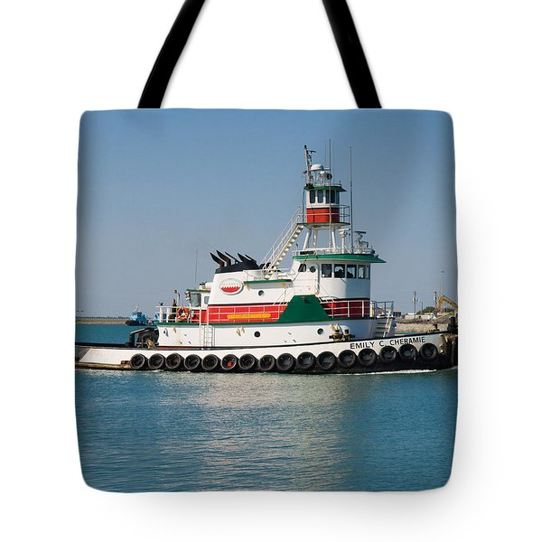 Popular Sight At Port Canaveral On Florida Tote Bag by Allan  Hughes
