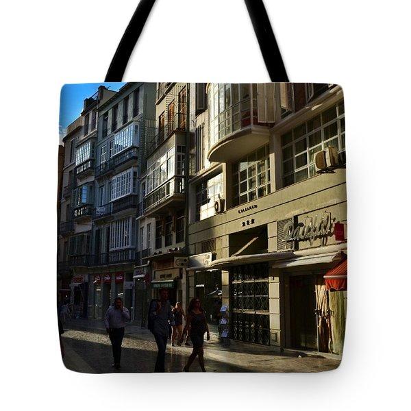 Por Las Calles Del Centro De #malaga Tote Bag