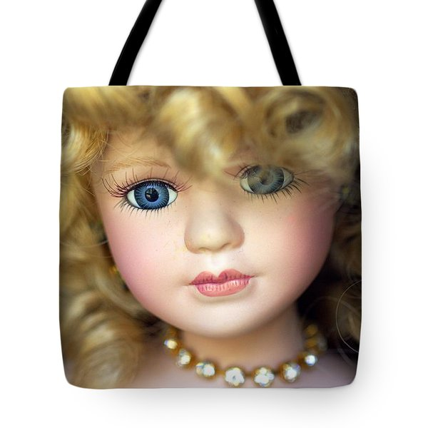 Porcelain Doll Tote Bag by Joseph Skompski