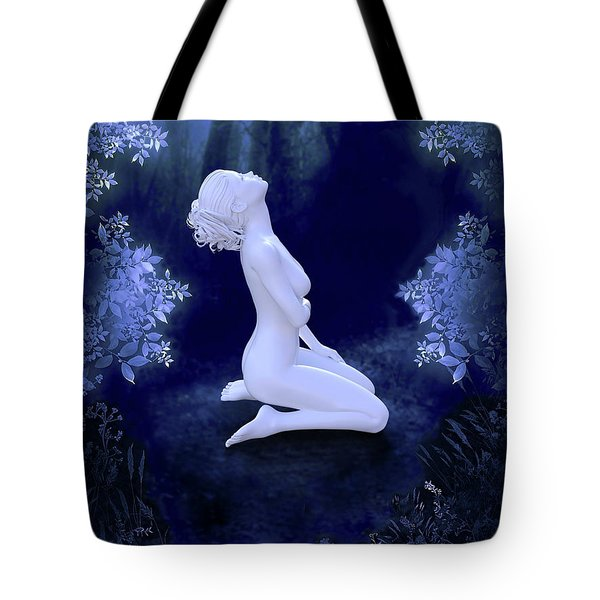 Porcelain Moon Tote Bag