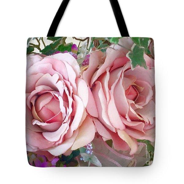 Porch Roses Tote Bag
