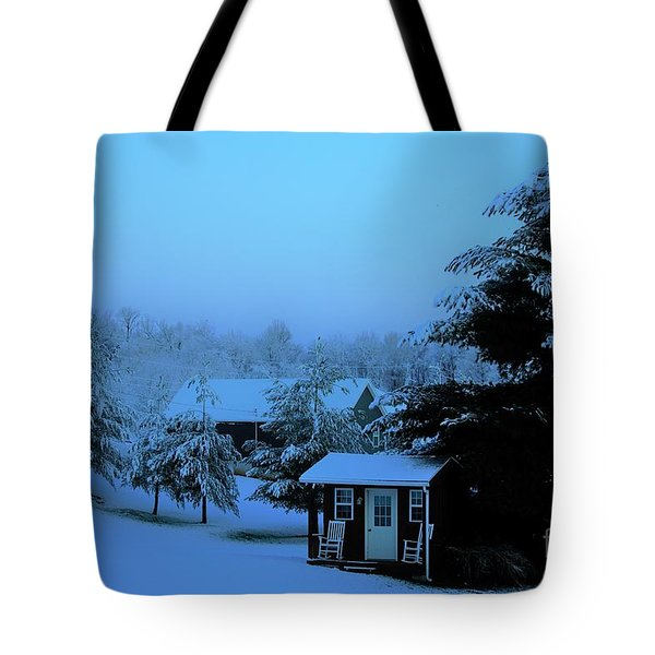 Porch Setting, Not Today Tote Bag