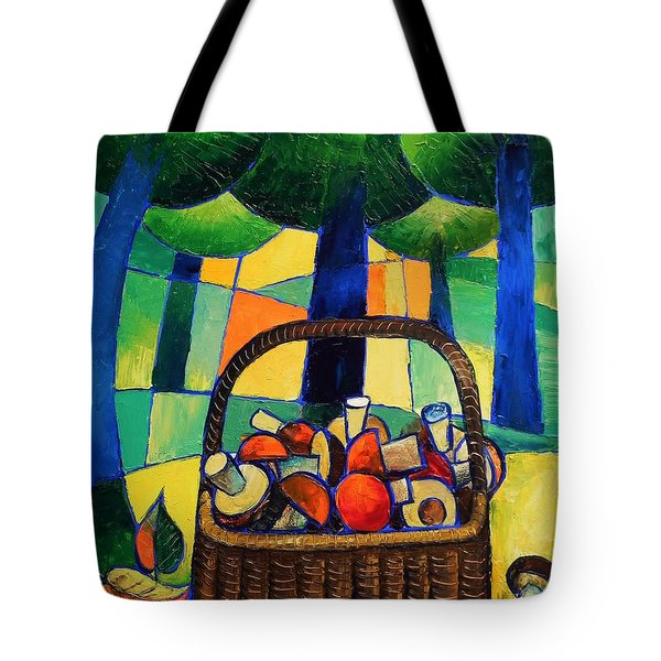 Tote Bag featuring the painting Porcini by Mikhail Zarovny