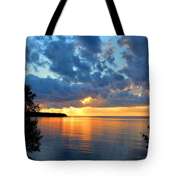 Porcupine Mountains Sunset Tote Bag