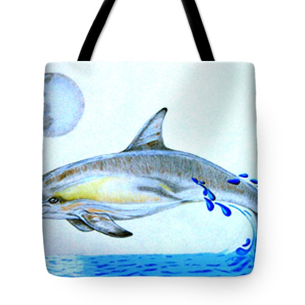 Tote Bag featuring the drawing Porpoise by Mayhem Mediums