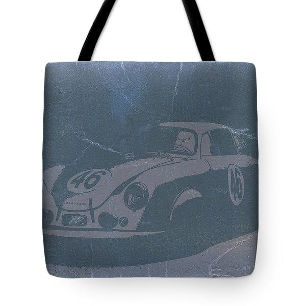 Porsche 356 Coupe Front Tote Bag by Naxart Studio