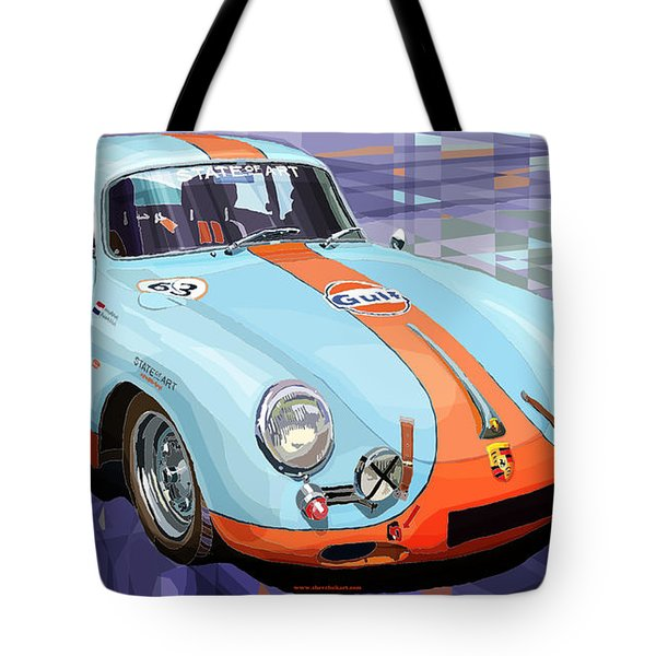 Porsche 356 Gulf Tote Bag
