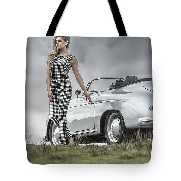Porsche 356 Speedster With Model Tote Bag