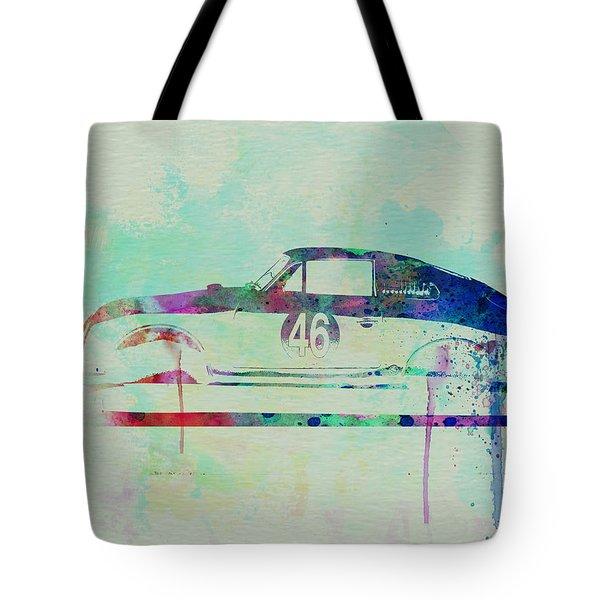 Porsche 356 Watercolor Tote Bag by Naxart Studio