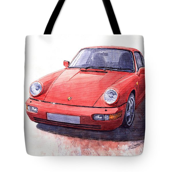 Porsche 911 Carrera 2 1990 Tote Bag
