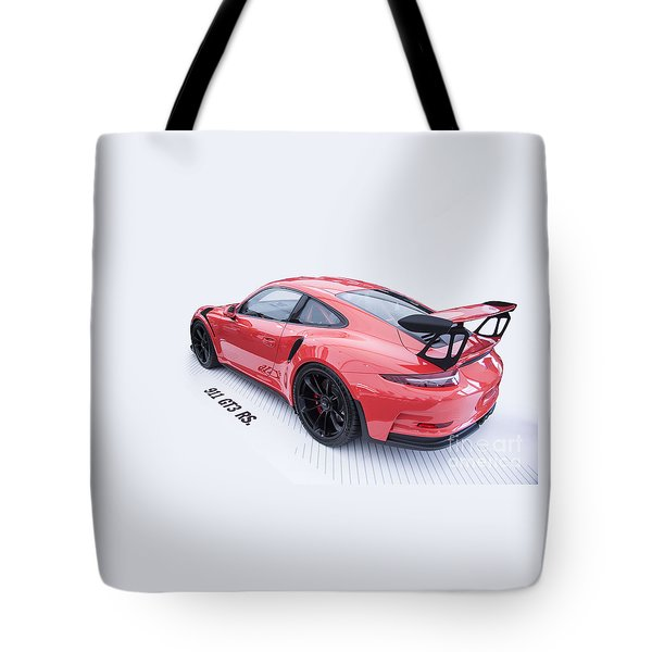 Porsche 911 Gt3 Rs Tote Bag