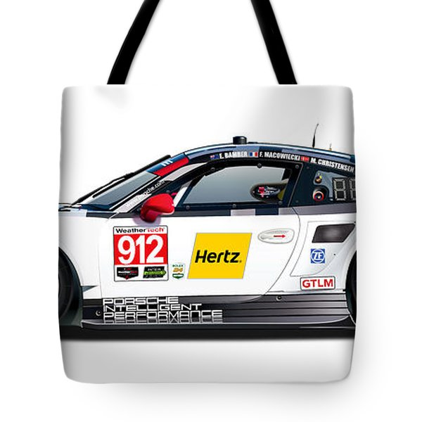 Porsche 911 Gtlm Illustration Tote Bag