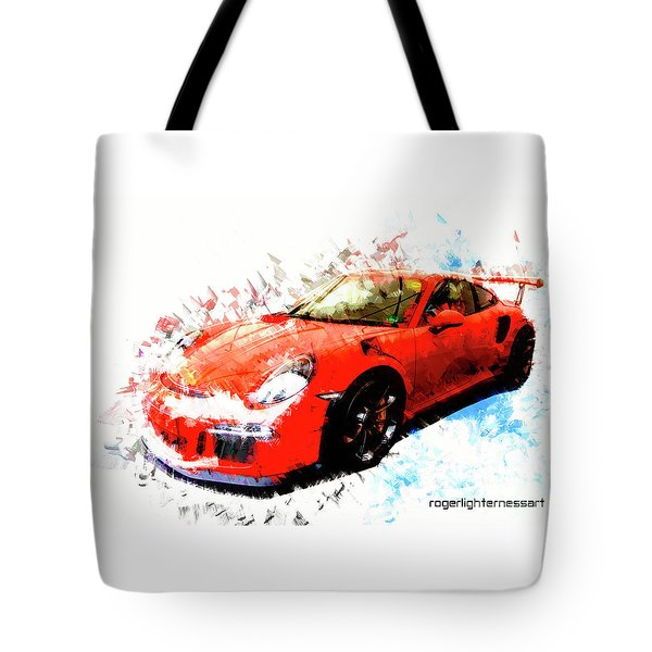 Porsche 911 Gts Tote Bag by Roger Lighterness