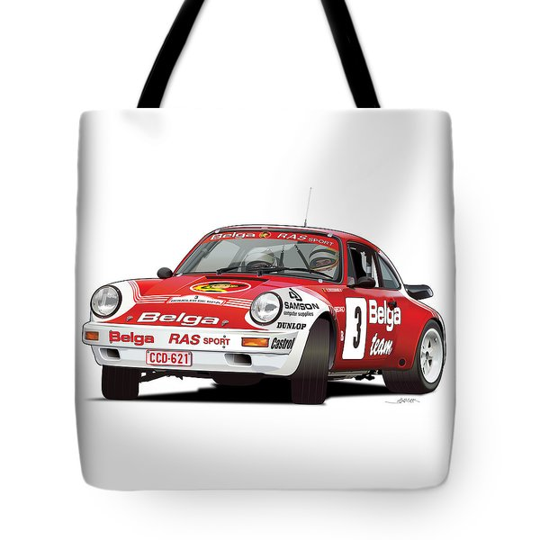Porsche 911 Sc Rs Belga Team Tote Bag